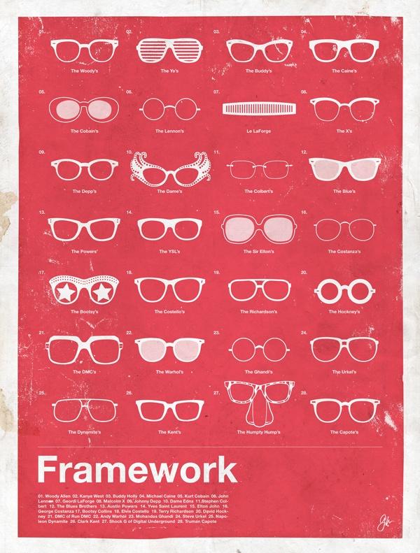 framework glasses Framework   Iconic Eyewear Posters