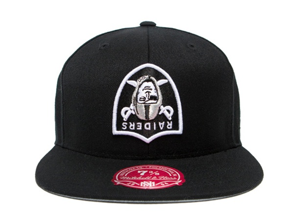 "HALL OF FAME x MITCHELL NESS x NFL ""Raiders Flip"" Fitted Cap Top 10 Fitted Hats"
