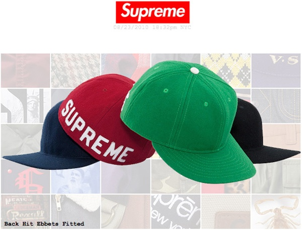 "SUPREMEx EBBETS FIELD ""Back Hit"" Fitted Baseball Caps Top 10 Fitted Hats"