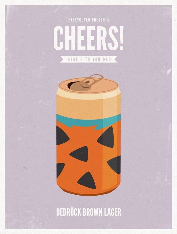EG cheers fathersday fredflintstone Cheers II Animated Dads: 8 Premium Fatherly Brews