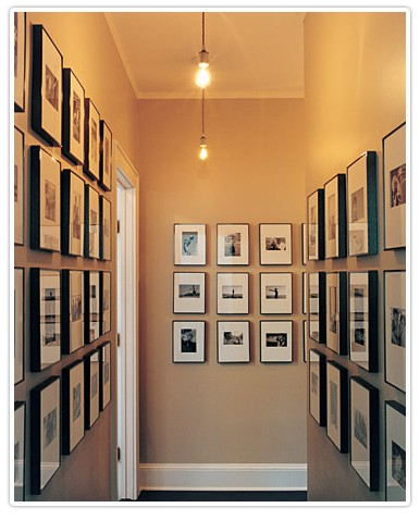 art gallery hallway hall of art art wall photo art framed art framed photos interior design and decor via pinterest How To Add A Refined Touch To Your Bachelor Pad: Part One