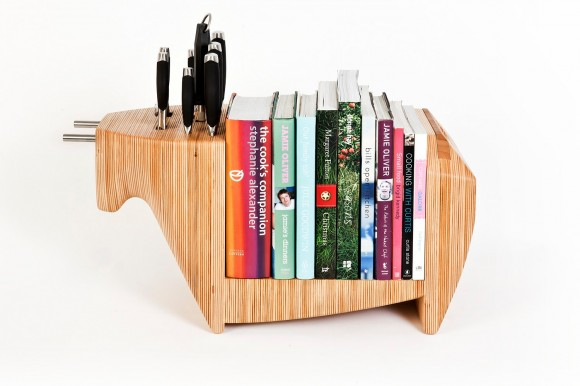 Bull knife and book display How To Add A Refined Touch To Your Bachelor Pad: Part 3