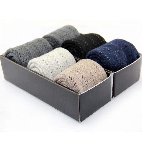 6pairs lot cashmere wool socks thickening towel male socks autumn and winter loop pile socks Stylish & Functional Wool Socks For Winter
