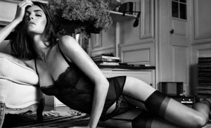 Oysho 04 GQ 30Sep13 pr b 813x494 300x182 Hilary Rhoda for Oysho Lingerie Fall/Winter 2013 Campaign