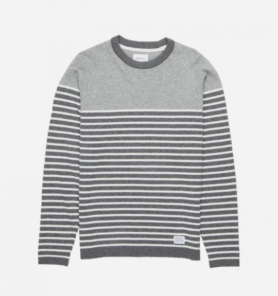 buyers guide knit sweaters norse projects borderline lambwool 540x576 The Top 13 Sweaters To Bundle Up In This Fall