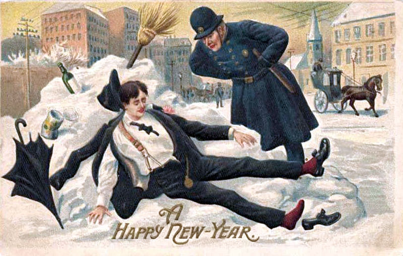 800px PostcardAHappyNewYear1912 How To: Dress and Behave at the Office Holiday Party
