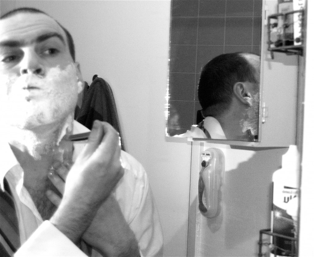 Self Portrait shaving with reflection 1024x838 How To: Dress and Behave at the Office Holiday Party
