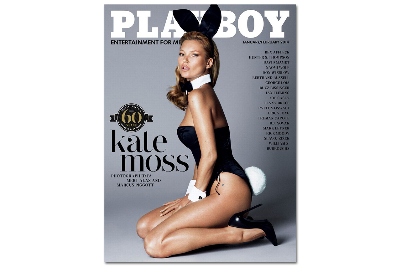 kate moss for playboys 60th anniversary issue 1 Kate Moss graces the cover of Playboys 60th Anniversary Issue
