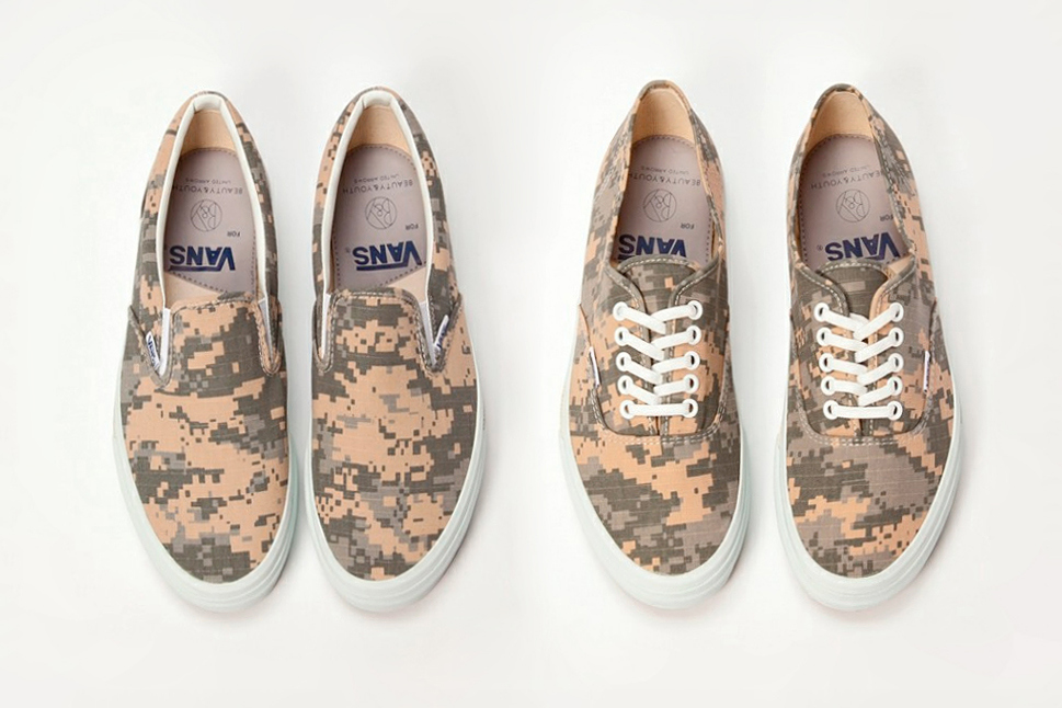 beauty youth united arrows x vans 2014 spring summer digi camo pack 1 Beauty & Youth x Vans 2014 Digi Camo Sneaker Pack