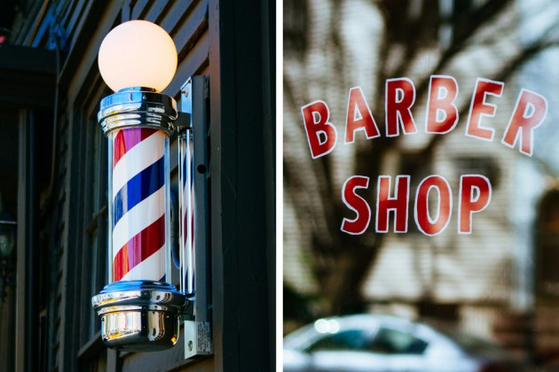 Blind Barber Williamsburg 03 630x420 A Look at Blind Barbers New NYC Shop & Bar