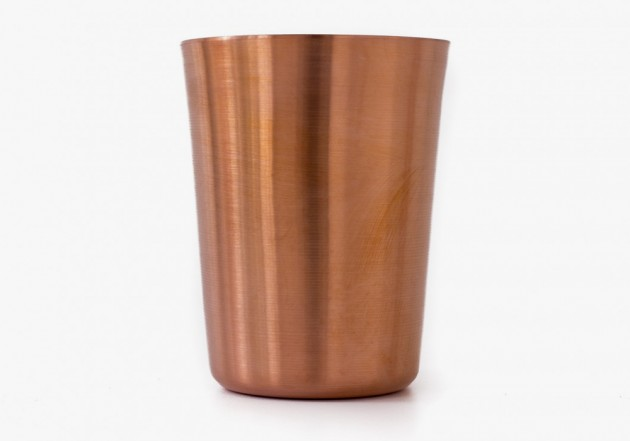Makr Tumblers Copper 3 630x441 Makr Hand Turned Copper Tumbler Set