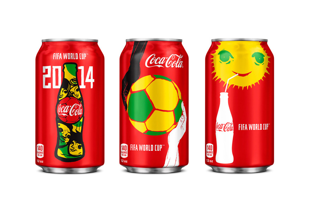 check out the new coca cola cans for the world cup 1 Coca Cola Unveils New FIFA World Cup 2014 Can Design