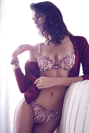 irina shayk twin sets fall winter 2014 campaign 2 300x450 Irina Shayk for Twin Sets Fall/Winter 2014 Lingerie Lookbook