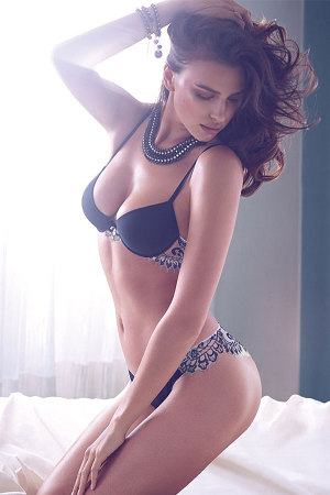 irina shayk twin sets fall winter 2014 campaign 3 300x450 Irina Shayk for Twin Sets Fall/Winter 2014 Lingerie Lookbook
