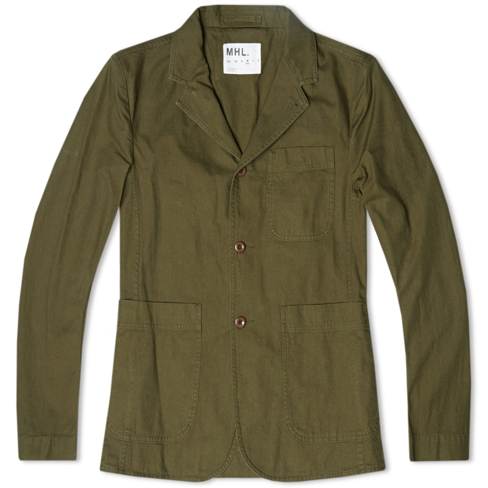 15 08 2014 mhl cottondrillstaffjacket khaki MHL by Margaret Howell Cotton Drill Staff Jacket